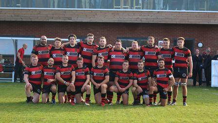 Wymondham line up for a team picture at their new Barnard Fields ground last week Picture: CHARLOTTE