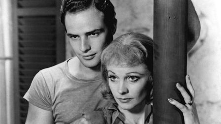 """Vivien Leigh and Marlon Brando in a scene from the film version of the Tennessee Williams play """"A St"""