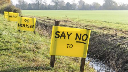 Controversial planning applications in Breckland, such as this one in Mattishall, led to complaints