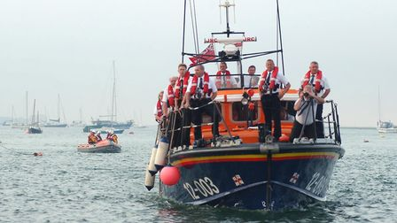 The Wells-based all-weather lifeboat Doris M Mann, right, was involved in the rescue. Picture: GRAHA