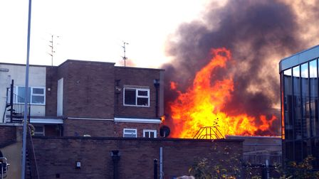 Sue Ruder shop in King's Lynn destroyed by fire on October 18. Picture: While There is Light