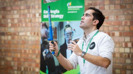 Dr Diogo Gomes, from Cambridge Science Centre, gives a demonstration. Picture: ScottishPower Renewab