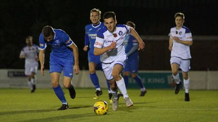 Action from Lowestoft Town's 1-0 win at Leiston on Tuesday evening. Picture: Shirley D Whitlow