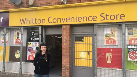 Whitton Convenience Store worker Julia Penson has hit out after a lit firework was thrown into the s
