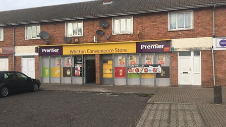 A lit firework was thrown into Whitton Convenience Store, Lowestoft, and exploded inside. Photo: Jam