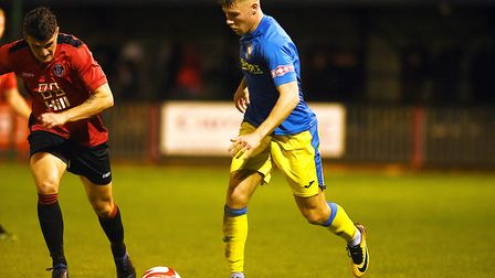 Harry Limb should return for Lynn against Rushden after a bout of flu Picture: Ian Burt