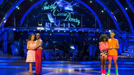 Danny John-Jules and Amy Dowden lose in the dance off to Graeme Swann and Oti Mabuse - (C) BBC - Pho