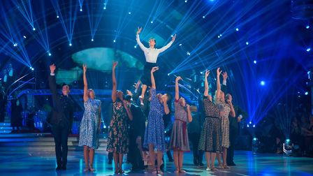 Strictly professionals perform to mark 100 years of the RAF - (C) BBC - Photographer: Guy Levy