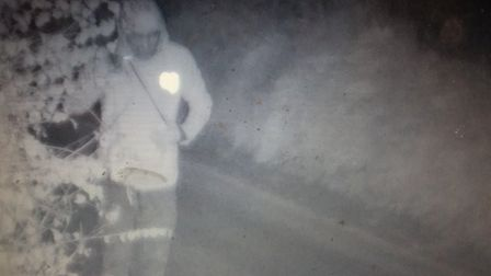 CCTV footage shows man wanted in connection with Martham burglary. Picture: Norfolk Police