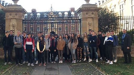 A total of 38 students from Lowestoft Sixth Form College visited Cambridge University for a trip tha
