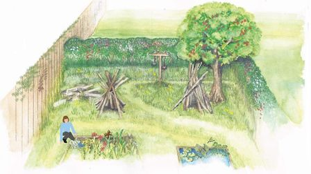 An artist's impression of the outdoor nurture nook, a new concept from social enterprise Goldcrest O