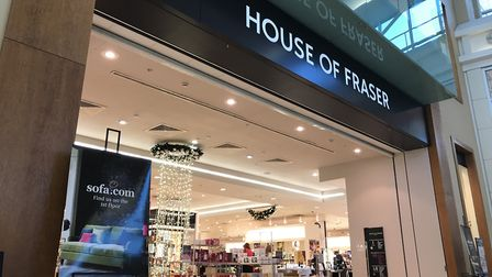 Shutting up shop. The House of Fraser store at the Intu Chapelfield shopping centre in Norwich is cl