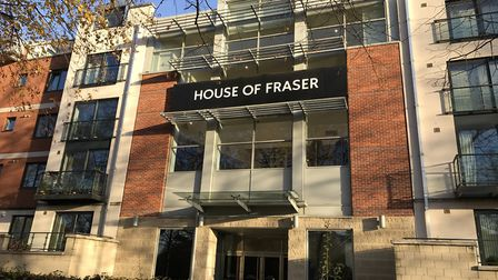 The House of Fraser store at the Intu Chapelfield shopping centre in Norwich is set to close next ye