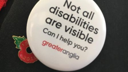 Greater Anglia introduces 'Offer Me A Seat' badges following overwhelming customer support. Picture:
