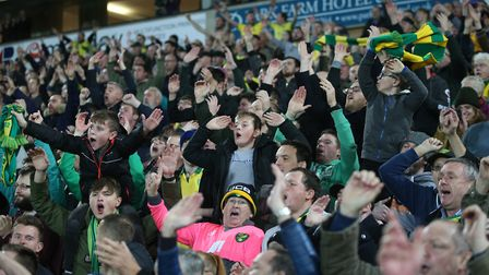 City fans celebrate their astonishing victory against Millwall. Picture: Paul Chesterton/Focus Image