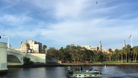 The Hillsborough river runs through downtown Tampa Picture: Archant