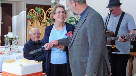 Margaret Wynn MBE and the Rev canon Simon Stokes. Photo: Sprowston Day Centre