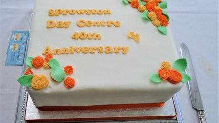 The cake to celebrate Sprowston Day Centre's 40th anniversary. Photo: Sprowston Day Centre