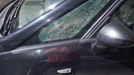 Hayley Ladley's car was one of those targeted when stones were thrown at moving vehicles in Swaffham