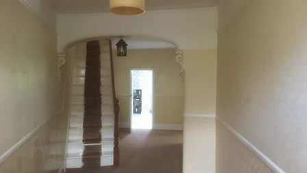 Chester Street; the hallway and stairs before the renovation. Pic: www.brown-co.com