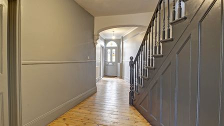 The hallway and stairs at Chester Street after the renovation. Pic; www.brown-co.com