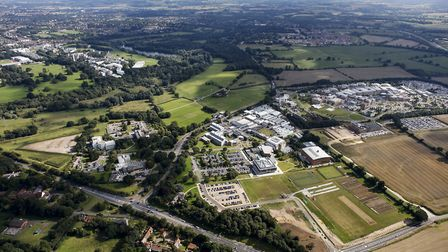 Norwich Research Park as seen from the air. Picture: NRP.