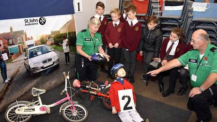 The St John Ambulance scenario as Crucial Crew commences in Lowestoft, with about 1,200 schoolchildr