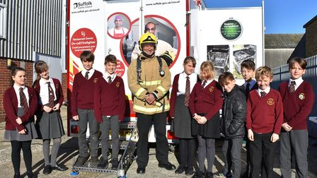 The fire safety scenario with Suffolk Fire and Rescue Service as Crucial Crew commences in Lowestoft