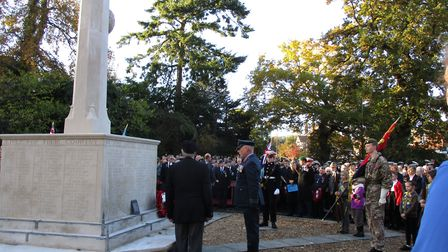 Remembrance Sunday was marked in Beccles as the local branch of the RAF Association joined with many