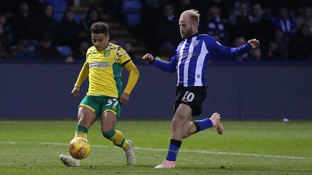 Max Aarons lays on the third goal for Teemu Pukki at Hillsborough - after some fine work down the ri