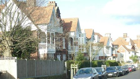 Firefighters were called after a fire broke out at a building on Cliff Avenue, Cromer. Picture: ARCH