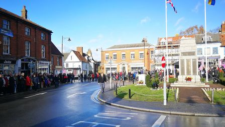 Armistice Day centenary remembered in Dereham. Picture: Archant