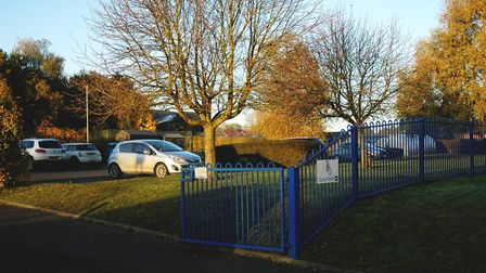 The car park at St Mary's Junior School in Long Stratton which is being sued for damages of up to £1