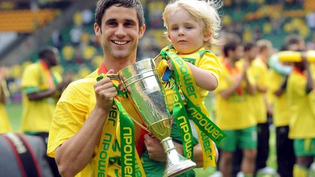 Andrew Surman celebrates City's promotion to the top flight Picture: Archant