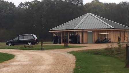 At the funeral service for Jess Fairweather, which took place at Bluebell Wood in Hainford on what w