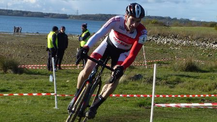 Dan Blackburn – top VC Norwich finisher in the Vets 40+ at the Grafham Water cyclo-cross Picture: F