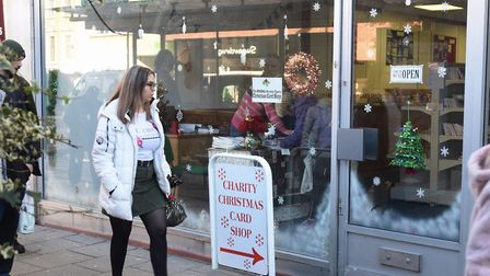 The Original Norwich Charity Christmas Card Shop opens on St Stephens Street. Picture: DENISE BRADLE