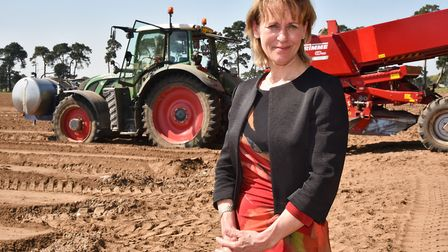 NFU president Minette Batters pictured during a visit to the Elveden Estate near Thetford. Picture: