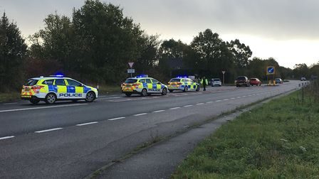 Three vehicles were involved in a collision on the A47 not far from Hockering, near Dereham. Picture