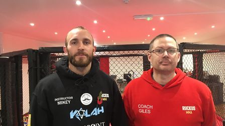 Michael Appleton and Giles Barr-Thomson of Ruckus MMA and Fitness Gym in London Road North, Lowestof