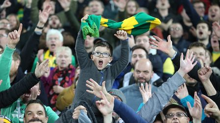 Norwich City fans roared their team to victory against Millwall at Carrow Road Picture: Paul Chester