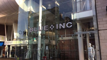 Blue Inc in Great Yarmouth's Market Gates shopping centre has closed its doors.