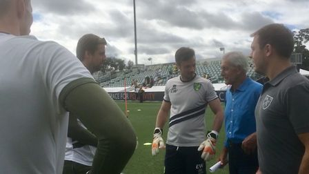 Norwich City held an open training session during their Tampa tour - Tim Krul and Ed Wooten speak to
