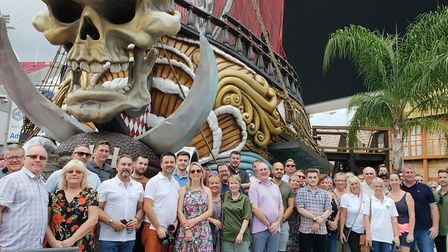 Norwich City's touring party visited the home of the Tampa Bay Buccaneers, including Canaries legend