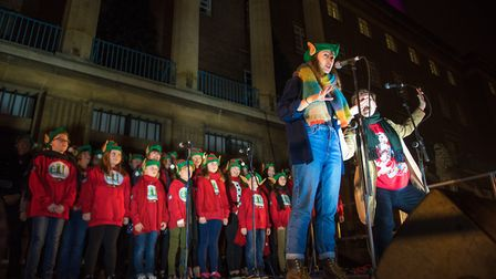 Festive fun and entertainment for the crowds outside City Hall for the switch on of the 2018 Christm
