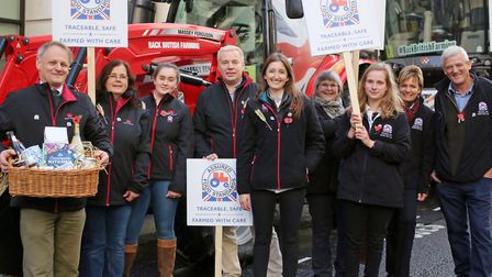 The Red Tractor team at the Lord Mayor's Show in London. Pictured from left: Andrew Blenkiron, Debbi