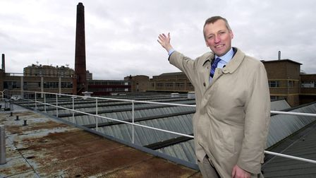 Lend Lease development manager John Peacock at the Nestle site at Chapelfield, Norwich before the fi