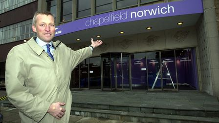 Lend Lease develpoment manager John Peacock at the Nestle site at Chapelfield in Norwich before the