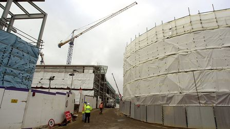 Work continues on construction of the Chapelfield development in Norwich, in November 2004. Picture: