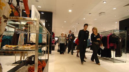 House of Fraser's opening day in 2005. Picture: Paul Hewitt